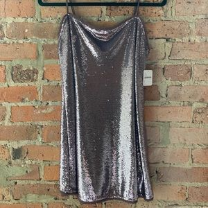 Free People Size S Lilac Sequin Slip Dress